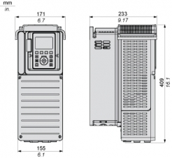 7,5 кВт, 380-480 В 3 фазное, Преобразователь частоты ATV630