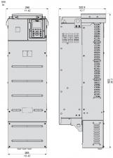 75 кВт, 380-480 В 3 фазное, Преобразователь частоты ATV630